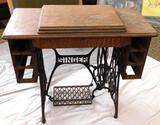 Antique Singer Treadle Sewing Machine & Cabinet