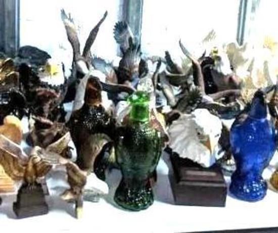 Lot of Eagle Statues