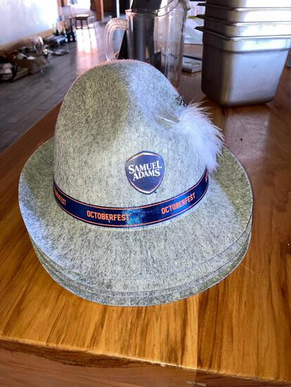 Put a feather in your Cap with these Octoberfest Samuel Adams Hats