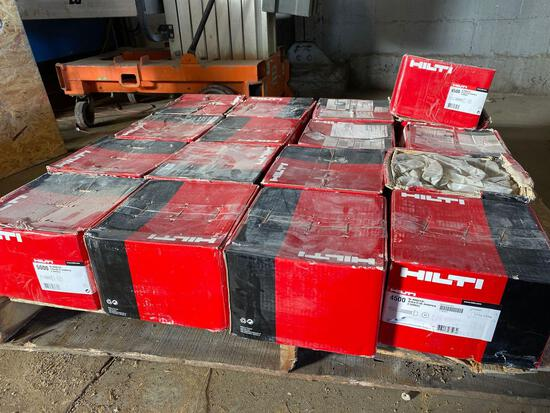 (17) cases of Hilti 24x7/8 in and 14x3/4 in self tapping fasteners