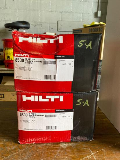 (2) New Boxes of Hilti 16x3/4 Self Tapping Screws (13000 Pcs)