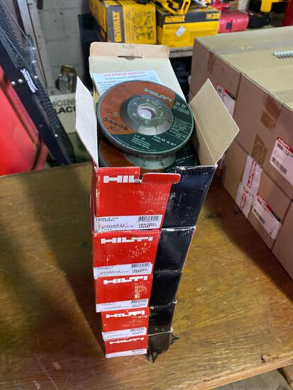 (5) Packs of New Hilti 4.5 in Grinding Wheels (10 per box-50 total)