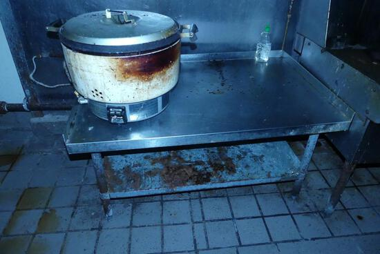Low Stainess Steel Prep Table with Rice Maker