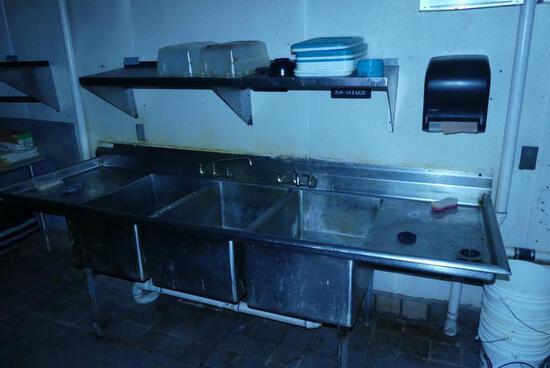 3 Bin Dish Sink
