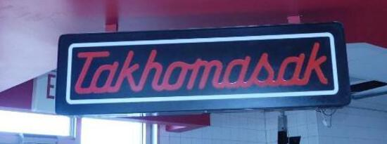 """Takhomasak"" Neon Sign"