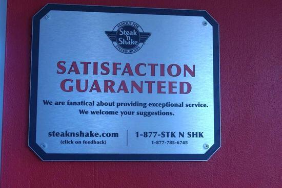 Satisfaction Guaranteed Sign