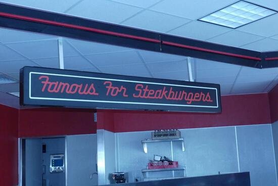 Famous For Steakburgers - Neon Sign