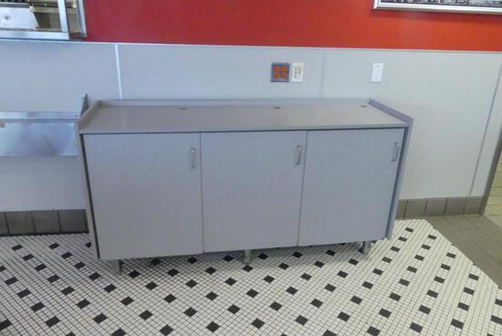 Gray 3 Door Cabinet