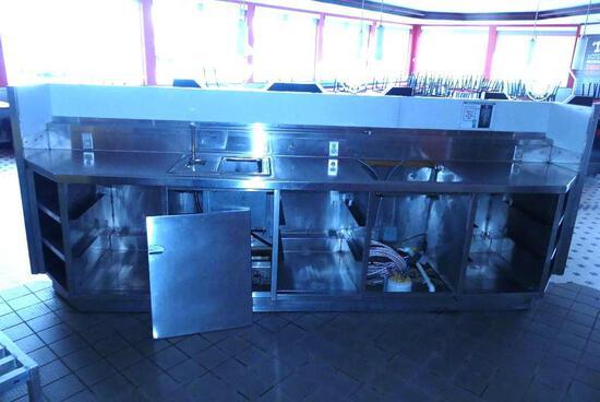 Service Bar Behind Booths