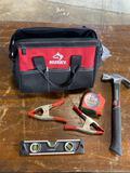 Husky Tool Bag and assorted tools