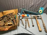 Nice lot of assorted hand tools, hammers, misc and more