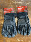 (2) New size L and XL Husky Goat Leather Gloves