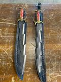 (2) New Decorative Swords approx 23 in