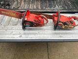 Pair of Homelite Chainsaws, both have compression but are untested
