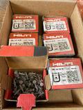 (6) boxes of Hilti XU16 PB Steel/Concrete Fasteners