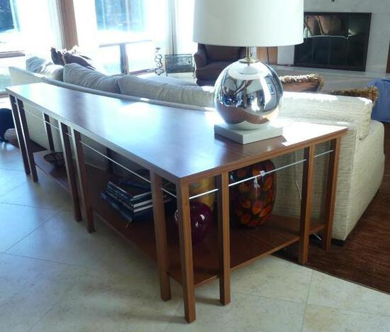 Contemporary & Warm Console Table