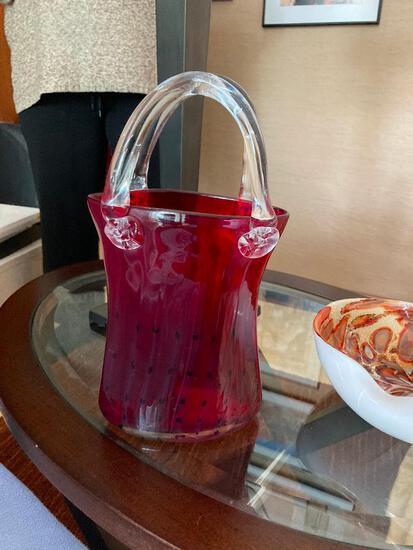 Red Glass Purse