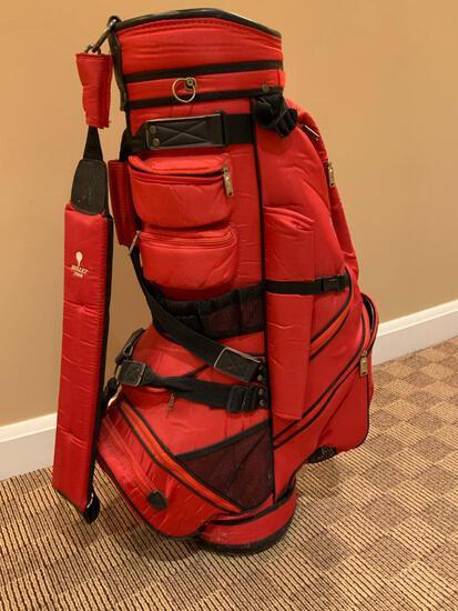 Bullet Red Golf Bag