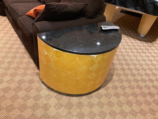 Half Moon Granite Side Tables