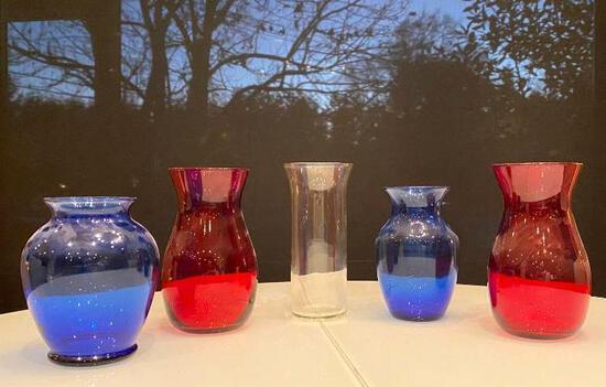 Patriotic Glass Vases