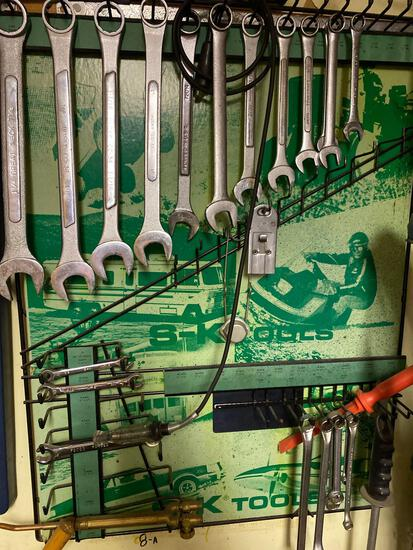 S&K Tool Display Rack and Assorted Brands of Tools