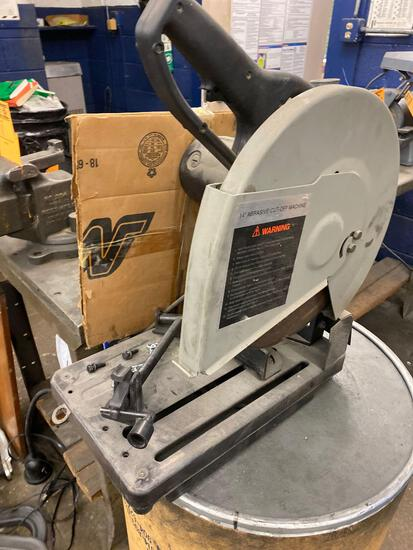 Porter Cable 14in Abrasive Cut-Saw w/ 5 extra blades