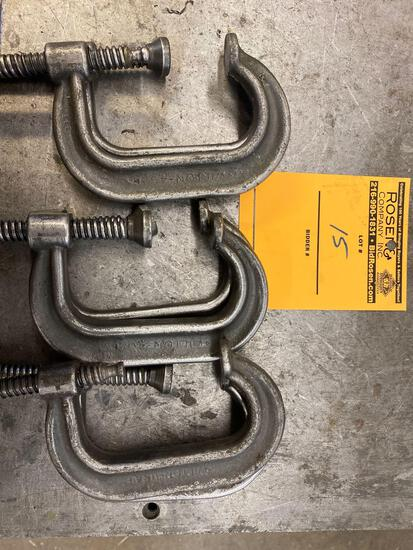 (6) 3.5 in C Clamps