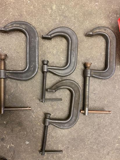 (4) 4 & 5in C-Clamps