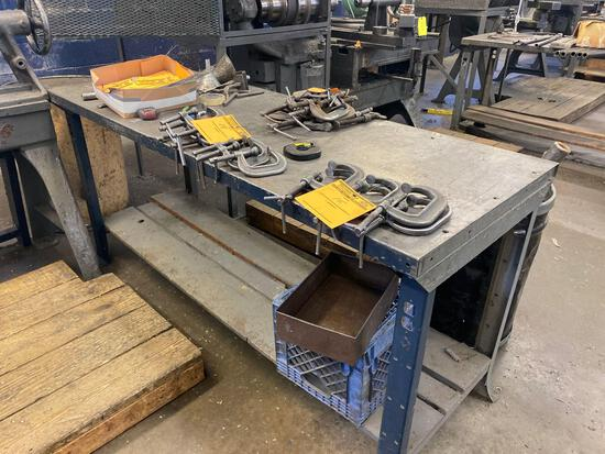 6ft x 28in metal workbench
