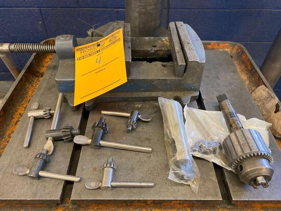 Machinist Vise, chuck and keys