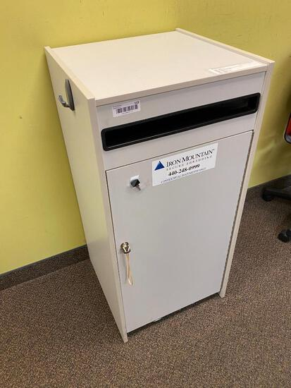 Locking Secured Office Paper Shredder Box