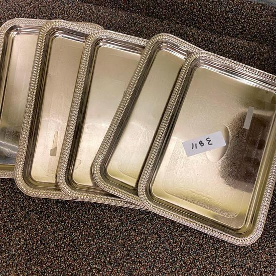 Silver Colored Trays