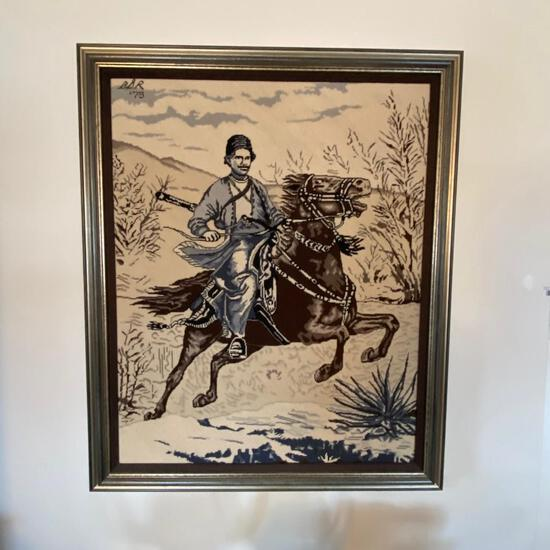Original Equestrian Needlepoint
