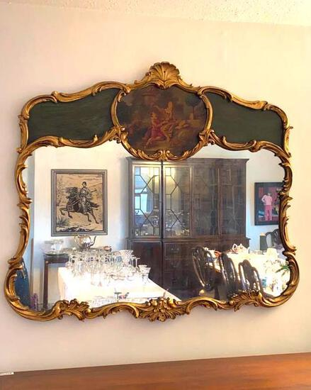 Large Gilded Rococo Mirror