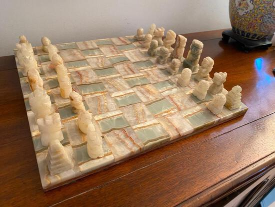 Beautiful Agate Chess Set