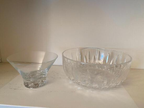 Orrefors Crystal Bowl with Additional Crystal Bowl