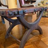 Primitive Leather Footstool