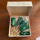 Carved Jade Appetizer Forks