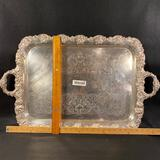 Large Silver Colored Platter