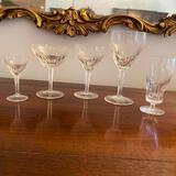 46 pieces of crystal glasses