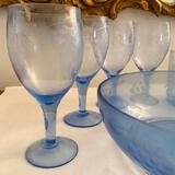 Blue Glass Drink Set