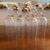 10 crystal glasses