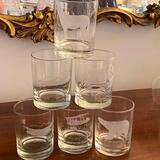 6 Etched Highball Glasses