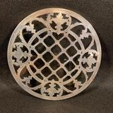 Sterling Silver and Glass Trivet