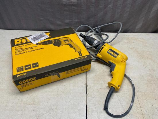 Dewalt Drywall Screwgun, with original box, bought new in December and used for one job. Good