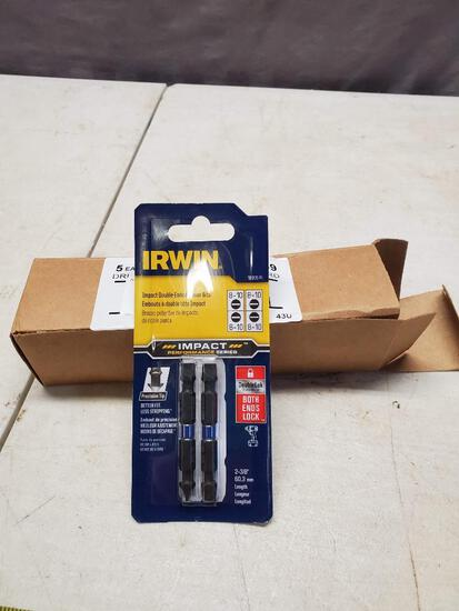 Irwin Slotted Impact Driver set, 5 packs of 2