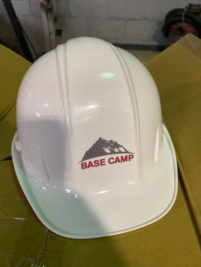 Case of (32) Adjustable White Hard Hats