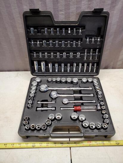 1/4, 3/8 and 1/2 inch Husky Socket Set, appears unused, or lightly used