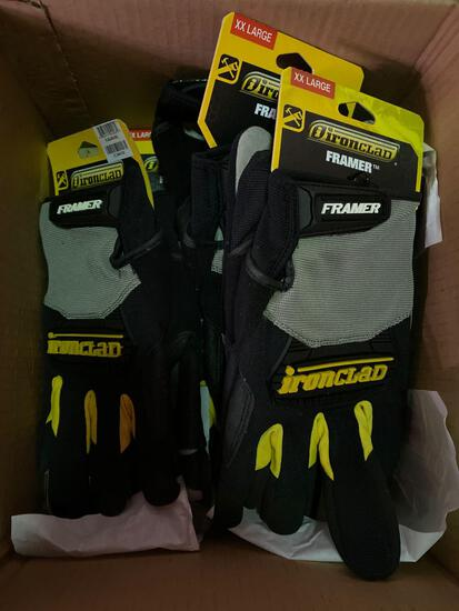 Box of (5) IronClad Co framers gloves. XXL