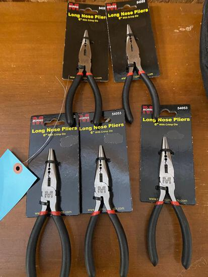 5- NEW Needlenose pliers, sells times the money